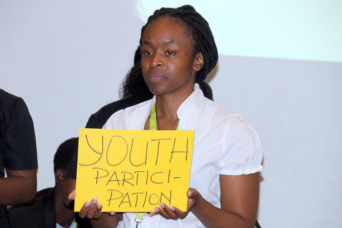 The youth delegates delivered their message to the Pre-Assembly through storytelling and roleplaying expressing the social challenges the African youth face, decision making and participation in the church.