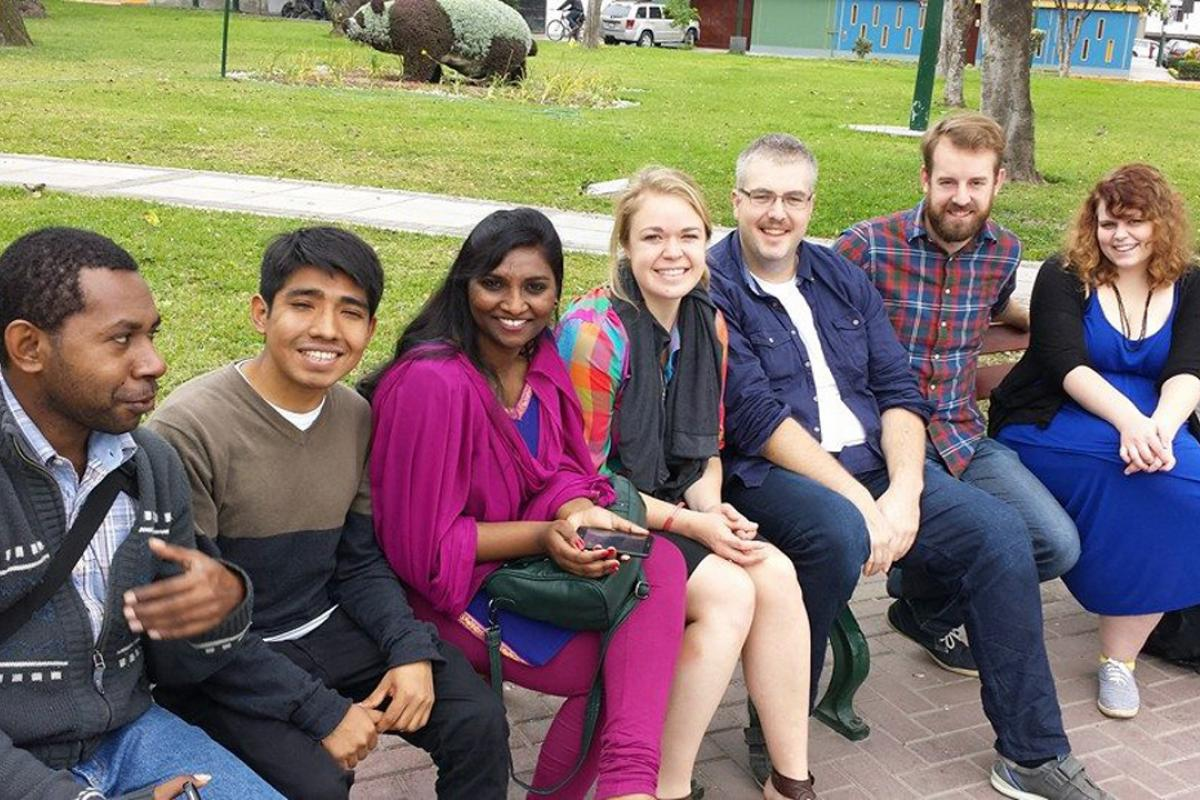 LWF Youth delegation to COP20. Photo: LWF/Sean Hawkey