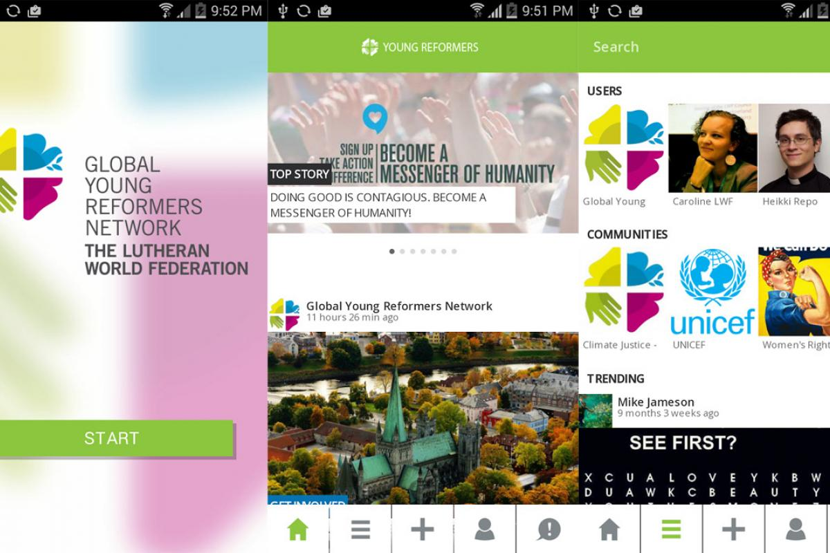 LWF on the move - keep up to date with the new LWF youth app, Young Reformers
