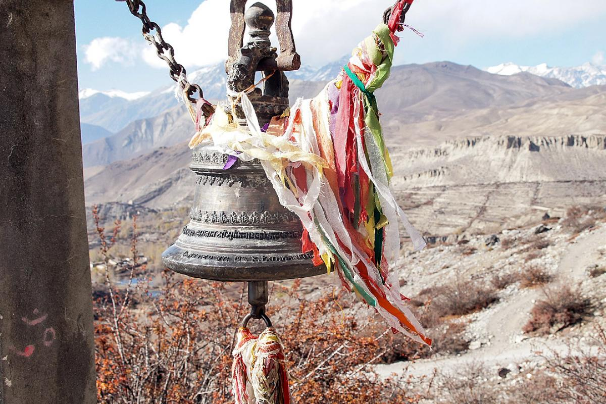Prayer bell at Muktinath temple. Photo: LWF/C.Kästner