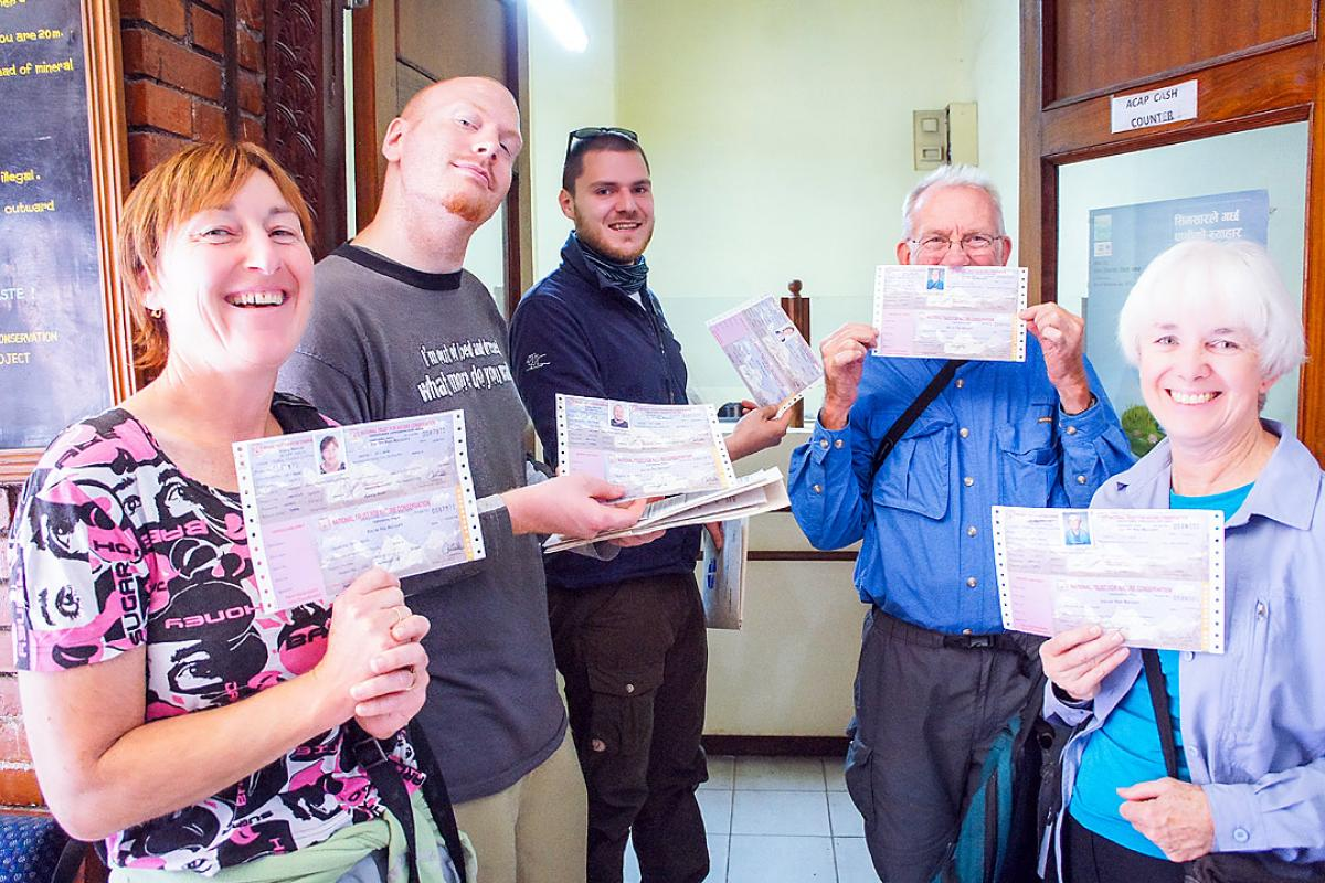 With permits in hand, the team is all set for the LWF Backstage Pass trek. Photo: LWF/C. Kästner