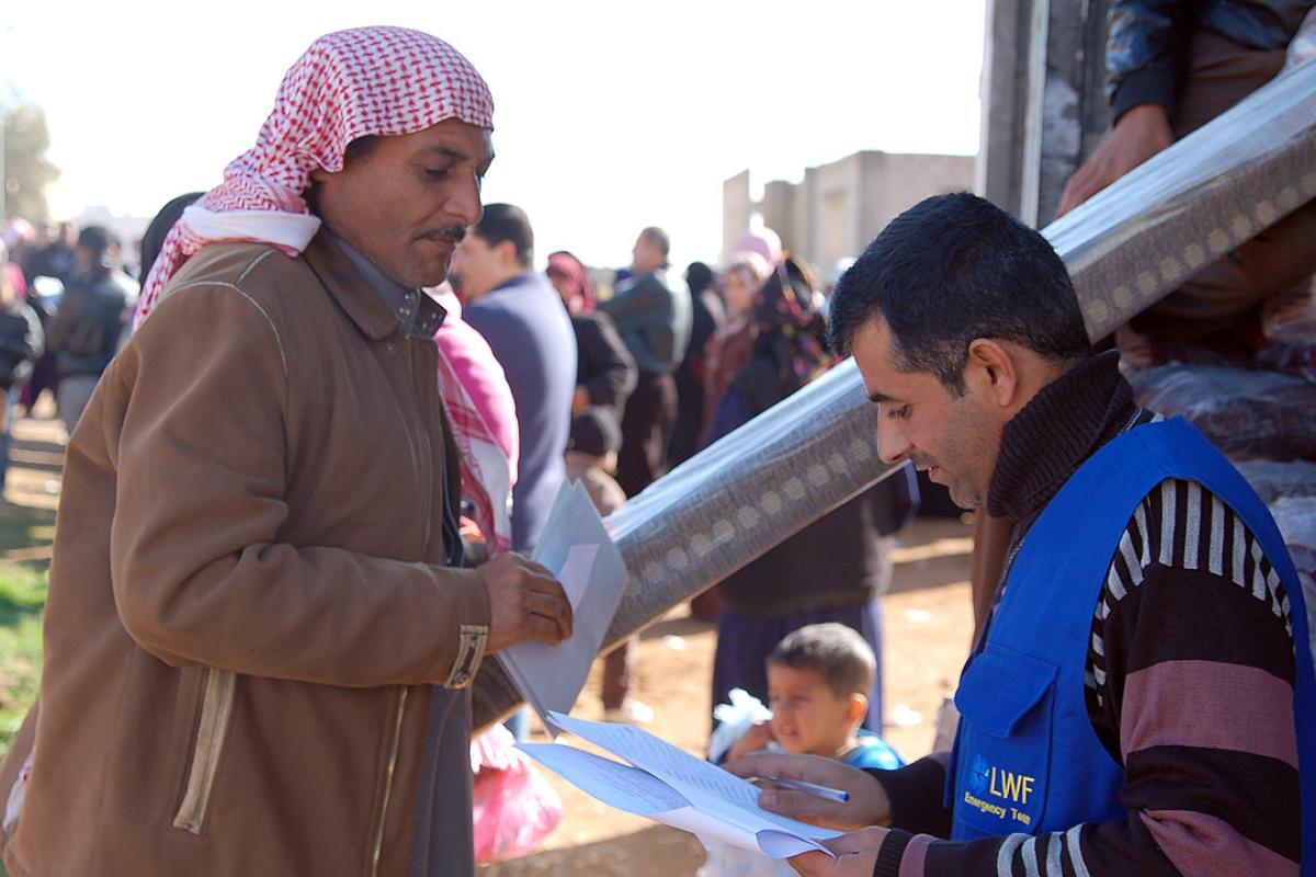 The LWF assists Syrian refugees inside Za'atari camp and in Jordanian host communities. Photo: LWF Jordan