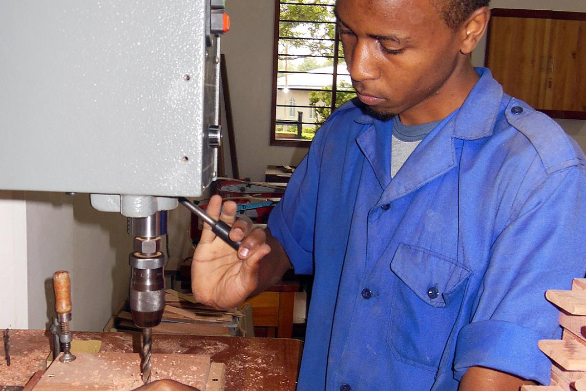 A student at a vocational training center of the Evangelical Lutheran Church in Tanzania, near Arusha. Photo: LWF/Afram Pete