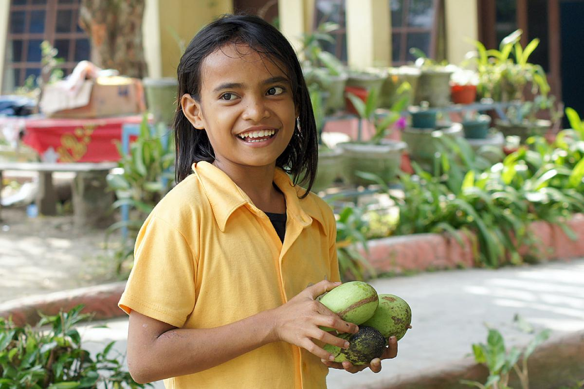 Climbing Mango trees for some extra sweets is part of a childhood in the HKBP orphanage in Pematang Siantar. Photo: LWF/ C. Kästner