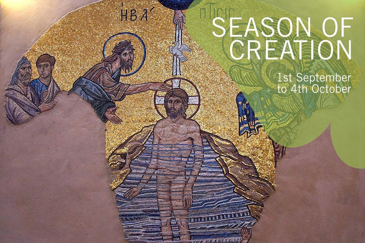 Baptism of Jesus Mosaic, Chapel of the Ecumenical Center, Geneva. Photo: LWF/S. Gallay