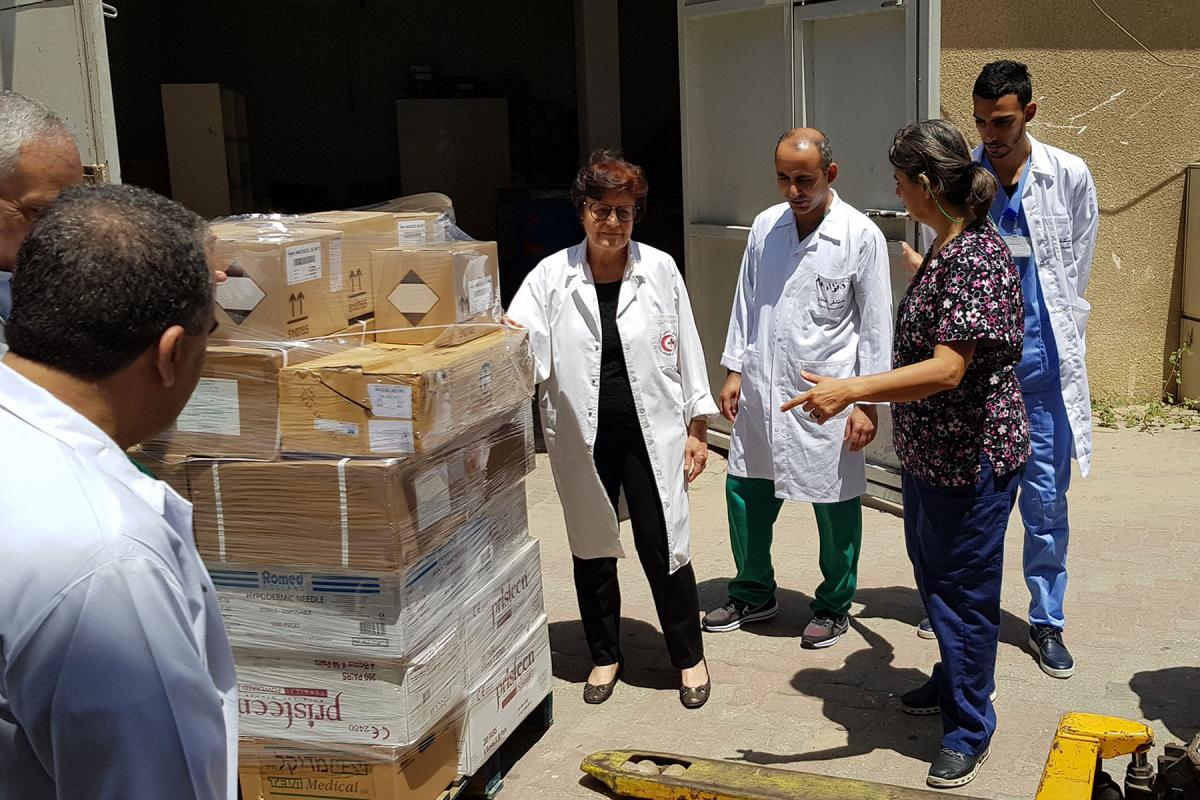 """Churches and agencies are calling on the U.S. government """"to extend compassion and help to those who are in need"""" at this time of global pandemic. Photo: LWF/ Shaban Mortaja (Juzoor Gaza)"""