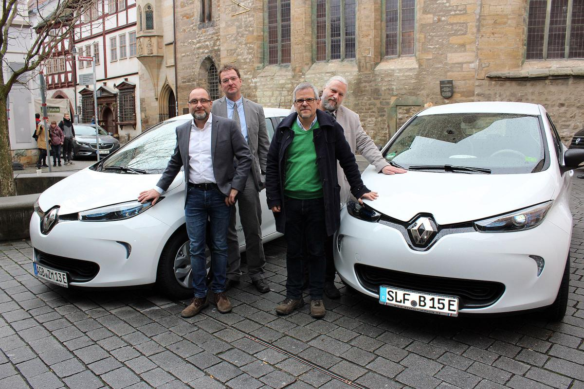Paring In The E Mobility Pilot Project From Left Jan Westphal Director