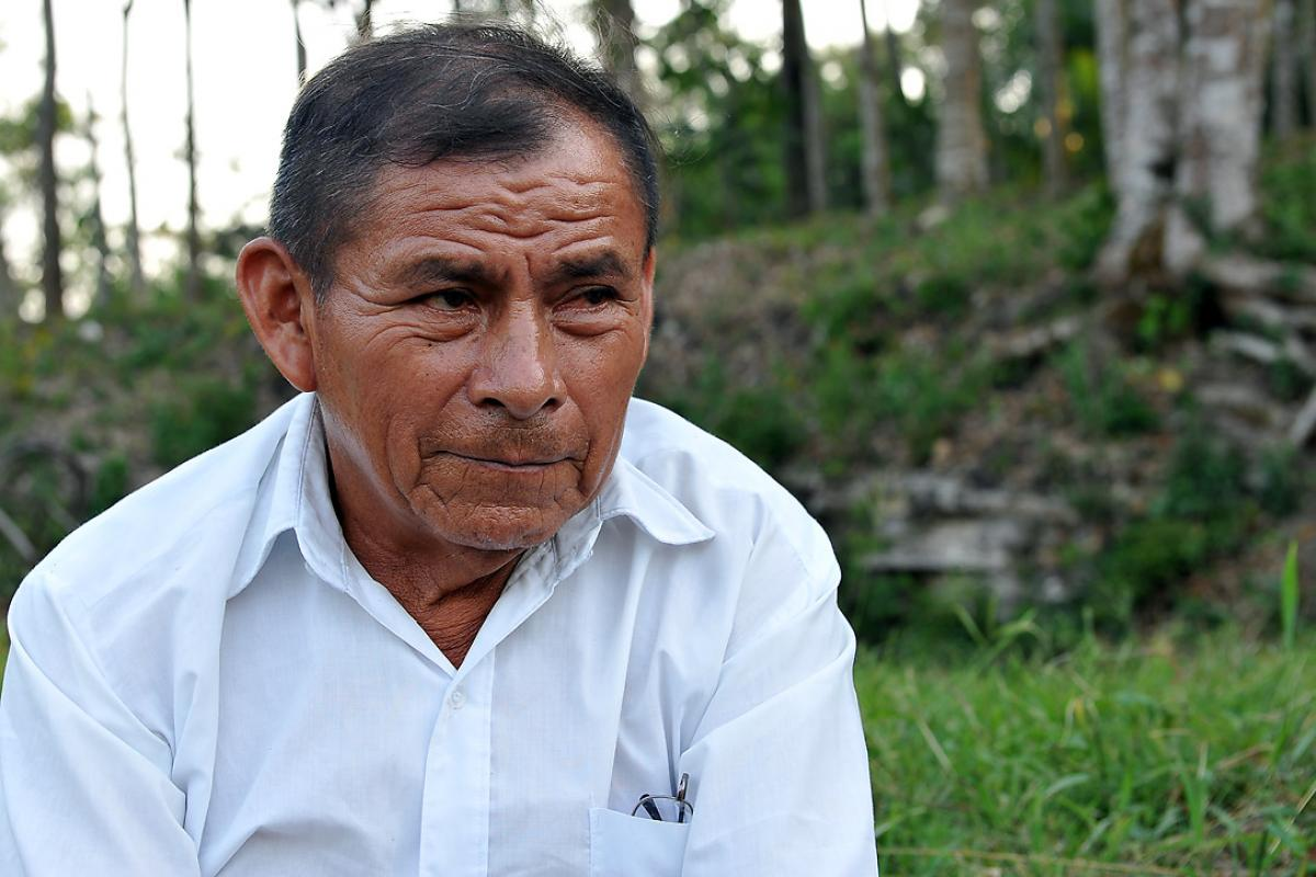 Decades of struggle for legal recognition of his land came to nothing for Don Francisco Siguic. Now the LWF and a Guatemalan human rights association hope to obtain land ownership titles. Photo: LWF/C. Kästner