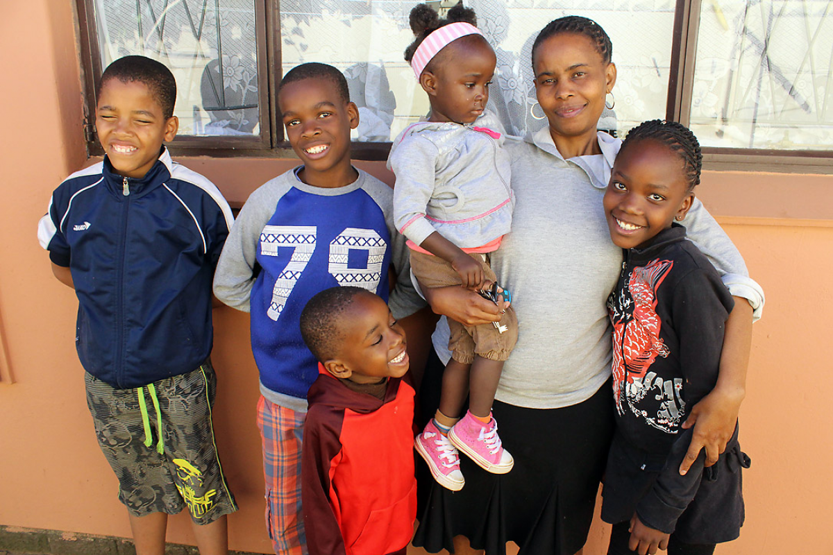 Children supported by St Peter's Child Care. Photo: LWF