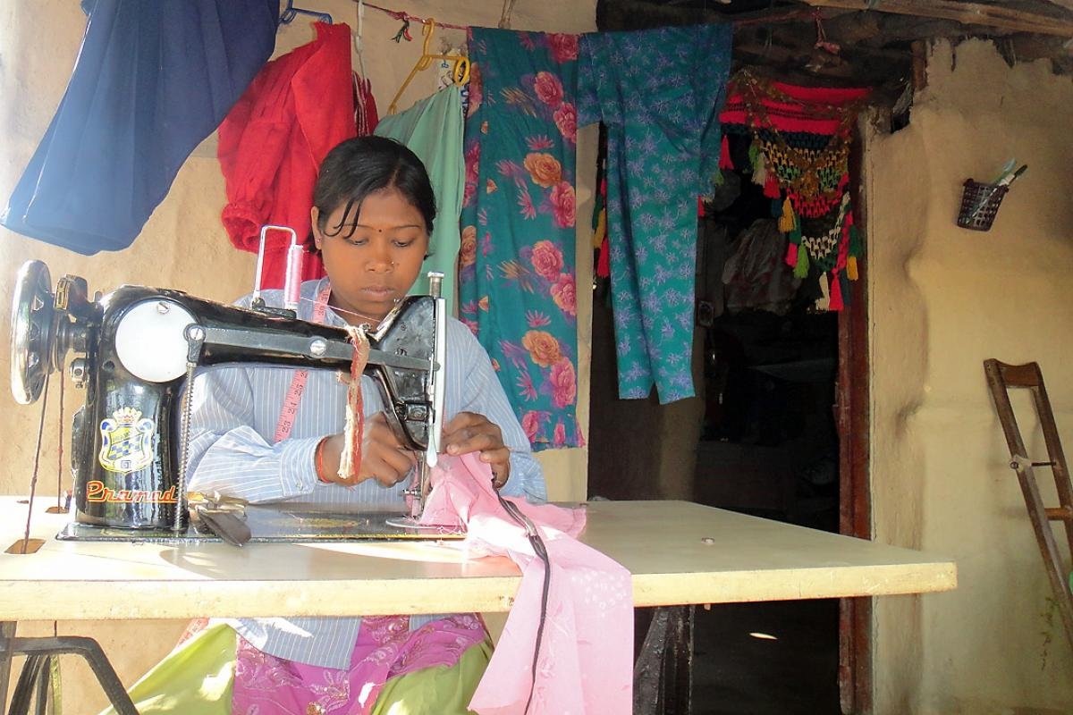 Despite her disability, Balarni Chaudhary can depend on the skills she acquired to support herself and her family. Photo: LWF Nepal