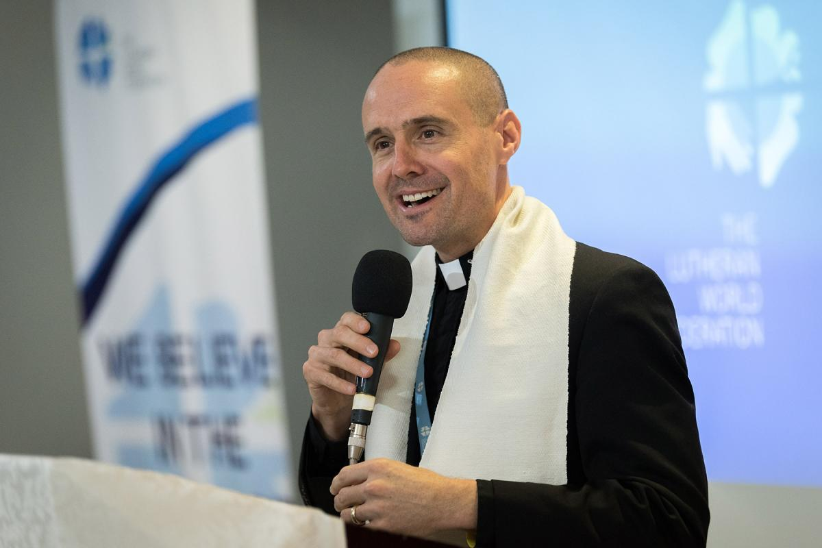 LWF Program Executive for Identity, Communion and Formation, Rev. Dr Chad Rimmer at the October 2019 Addis Consultation. Photos: LWF/A. Hillert