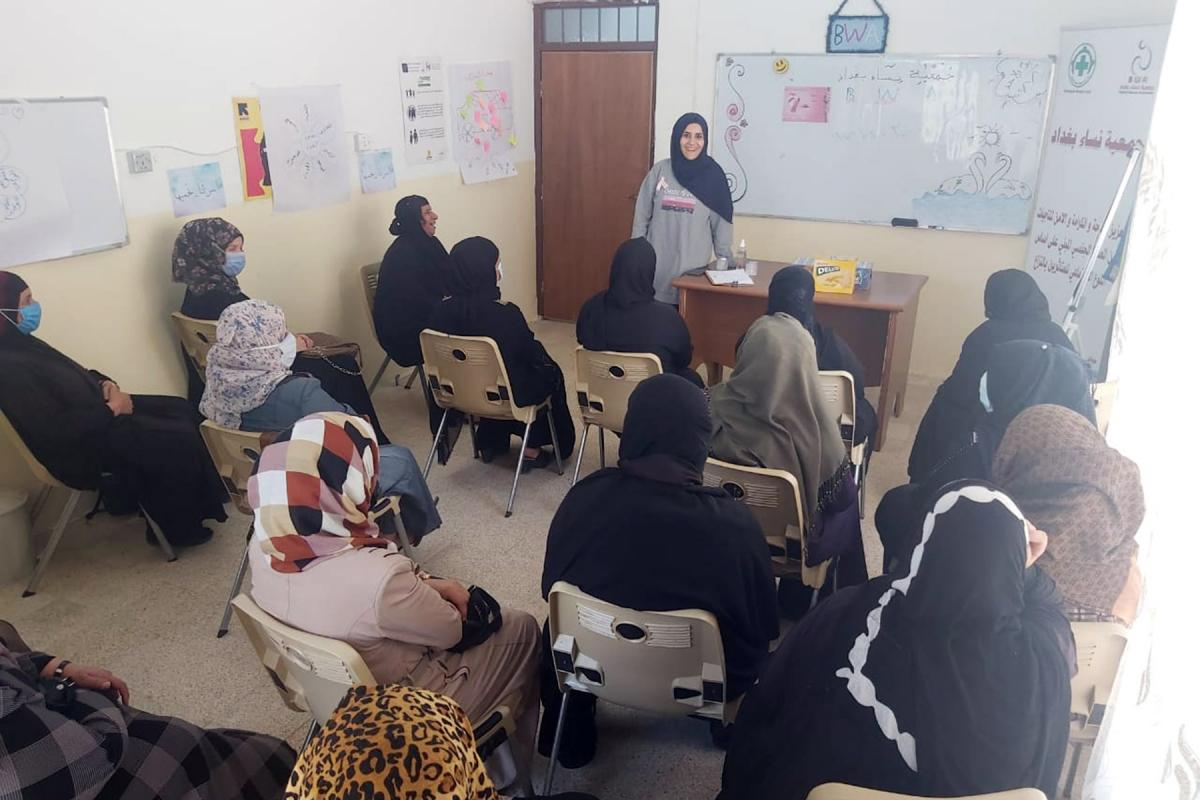 A workshop at the BWA center in Siji. Photo:LWF/ H. Muhammed
