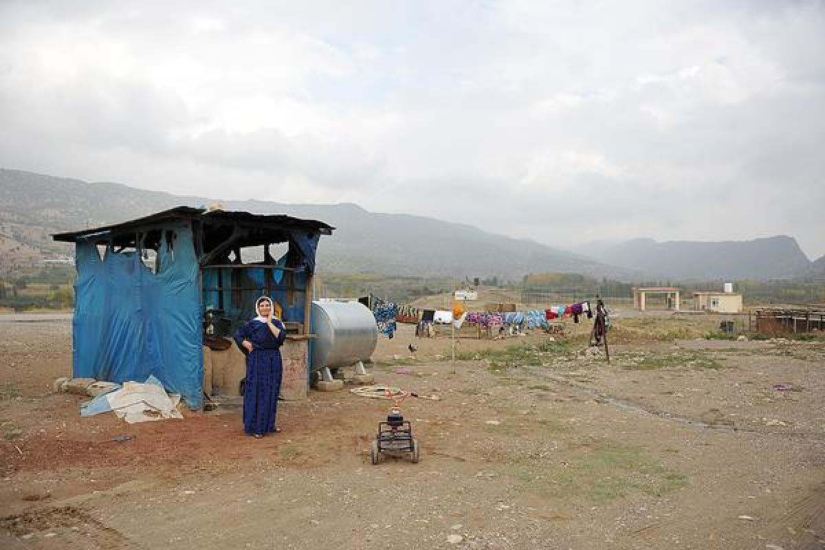 The LWF is helping camp residents prepare for winter in northern Iraq. LWF/Seivan Salim