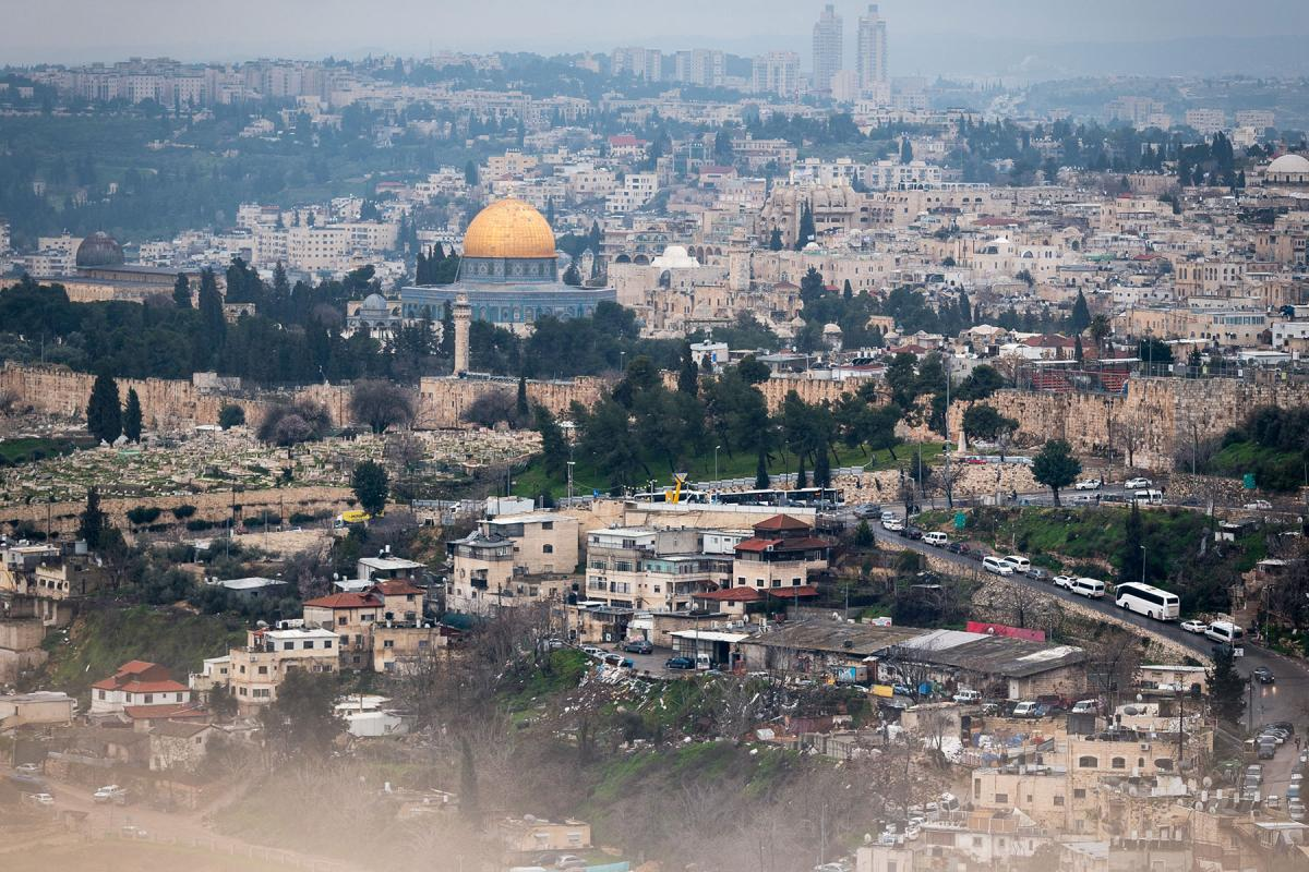 View of the Jerusalem Old City from the Mount of Olives. Photo: LWF/Albin Hillert