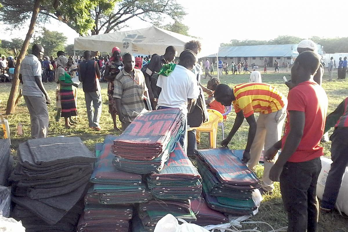 Non-food items being readied for distribution to Kakuma residents affected by the flooding. Photo: LWF/DWS Kenya-Djibouti