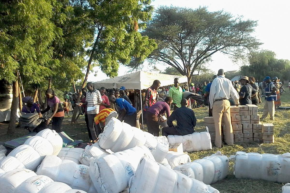 Queuing for distribution of non-food items in Kakuma. Photo: LWF/DWS Kenya-Djibouti