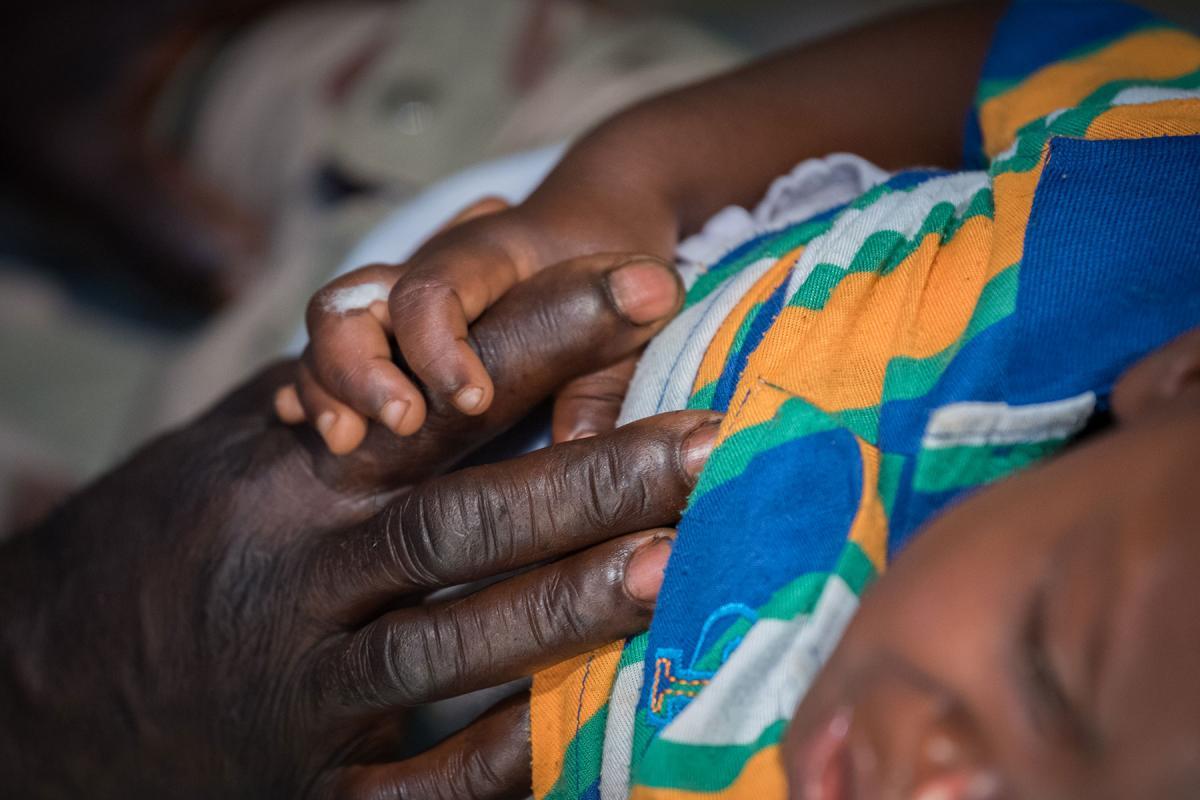 A young boy receives emergency treatment at the Ganta United Methodist Hospital in Liberia. All photos: LWF/Albin Hillert