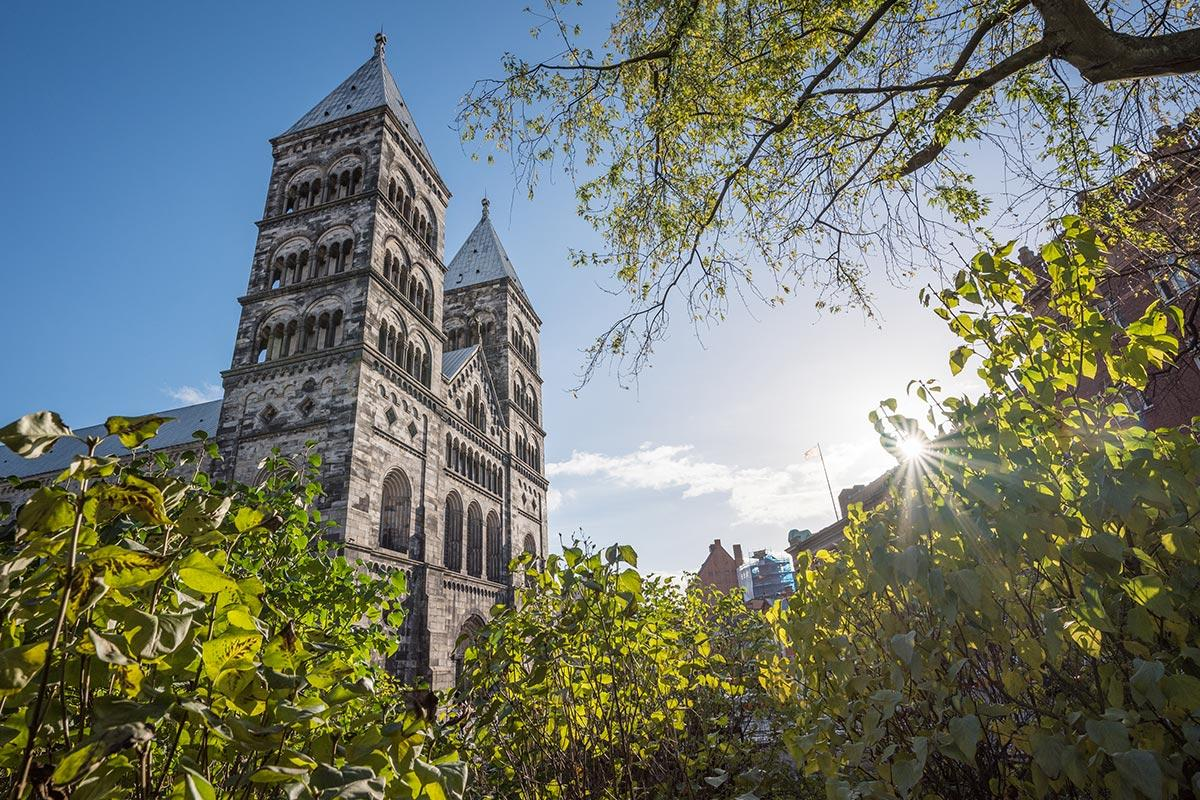 Lund Cathedral, the 12th century cathedral owned by the Church of Sweden, founded in 1080 and consecrated in the 12th century. Photo: Albin Hillert/Church of Sweden