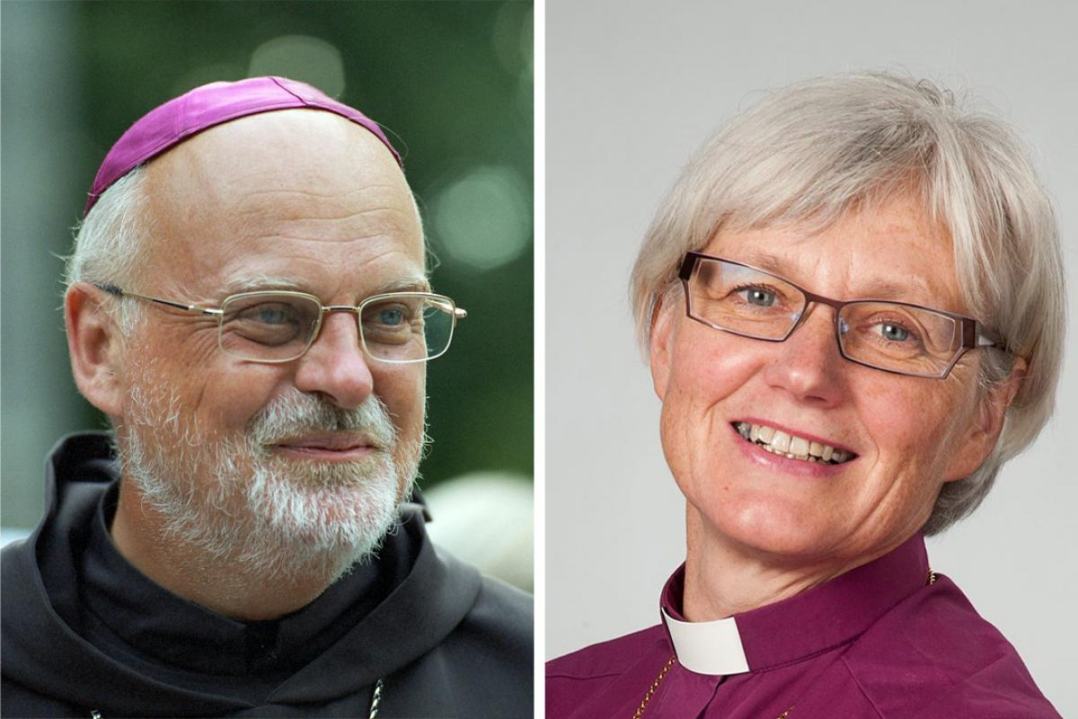 Anders Arborelius, Bishop of the Catholic Diocese of Stockholm (left) and Antje Jackelén, Archbishop of the Church of Sweden (Lutheran). Photos: Catholic Diocese of Stockholm / LWF/H. Putsman