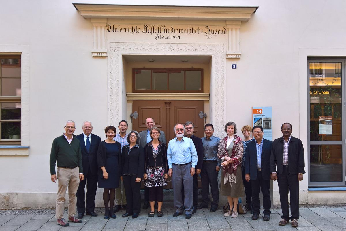 Members of the Lutherans and Pentecostals Dialogue Commission, in Wittenberg, Germany. Photo: LWF/K. Hintikka