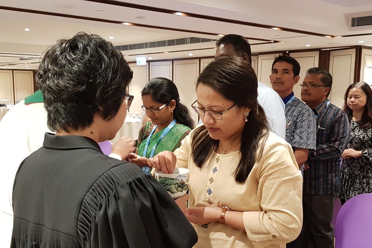 Closing service of the Asian Lutheran Identity Seminar in Hong Kong, 2017. Photo: LWF/P. Lok