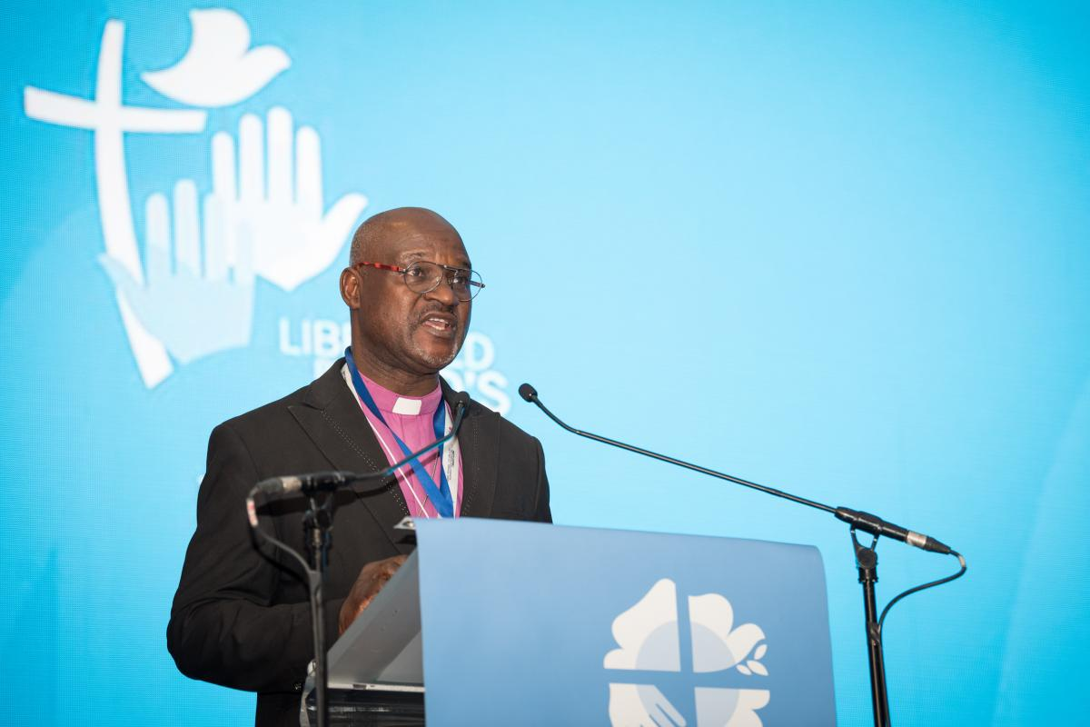Rev. Dr Panti Filibus Musa, Archbishop of the Lutheran Church of Christ in Nigeria, President of The Lutheran World Federation. Photo: LWF/Albin Hillert
