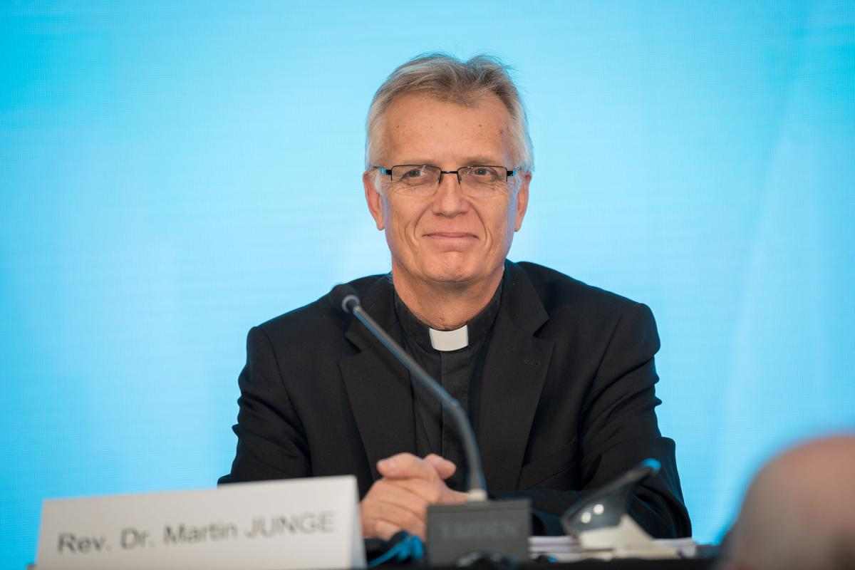 LWF General Secretary Rev. Dr Martin Junge at the LWF's Assembly in Windhoek, Namibia, in 2017. Photo: LWF/Albin Hillert