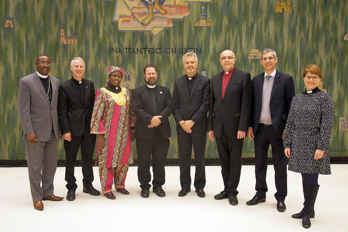 LWF and ILC representatives at the January 2015 meeting in Geneva. Photo: LWF/S. Gallay