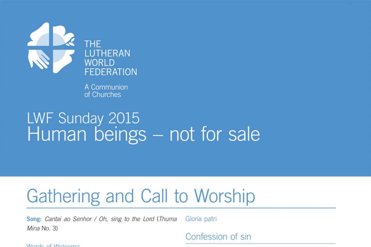 Liturgy for Reformation Sunday 2015 | The Lutheran World