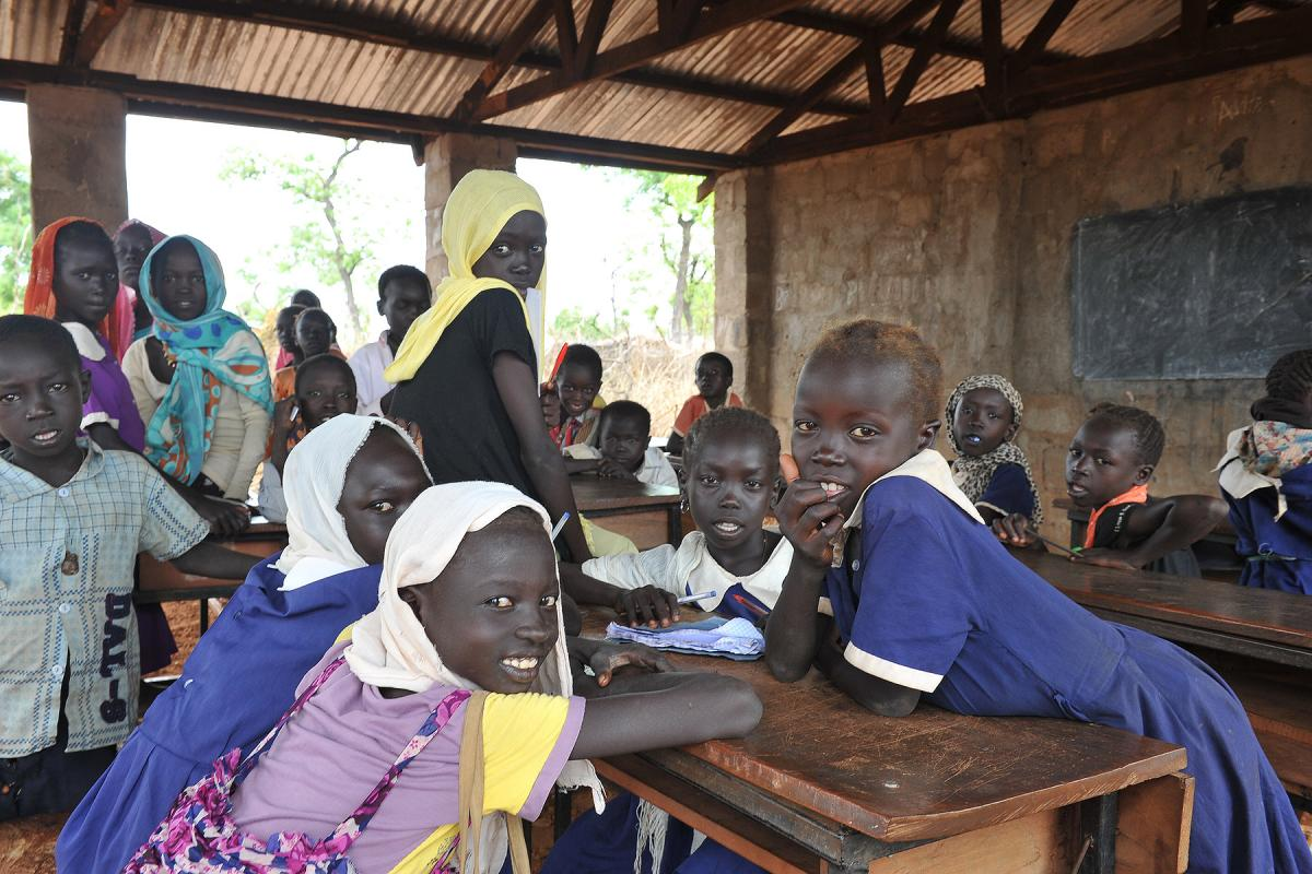 A classroom in Maban. More than 55,000 students have been affected by the emergency and need support. Photo: LWF/ C. Kästner