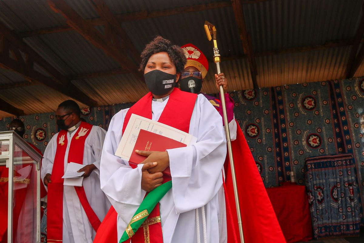 Rev. Bertha Godfrey Munkhondya is the first woman ordained in the Evangelical Lutheran Church in Malawi. Photo: David Mang'enda/ALCINET