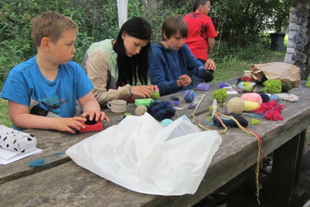 Children from Peeteli in a 2014 summer camp organized by the EELC on Saaremaa island, Estonia. Photo: Avo Üprus