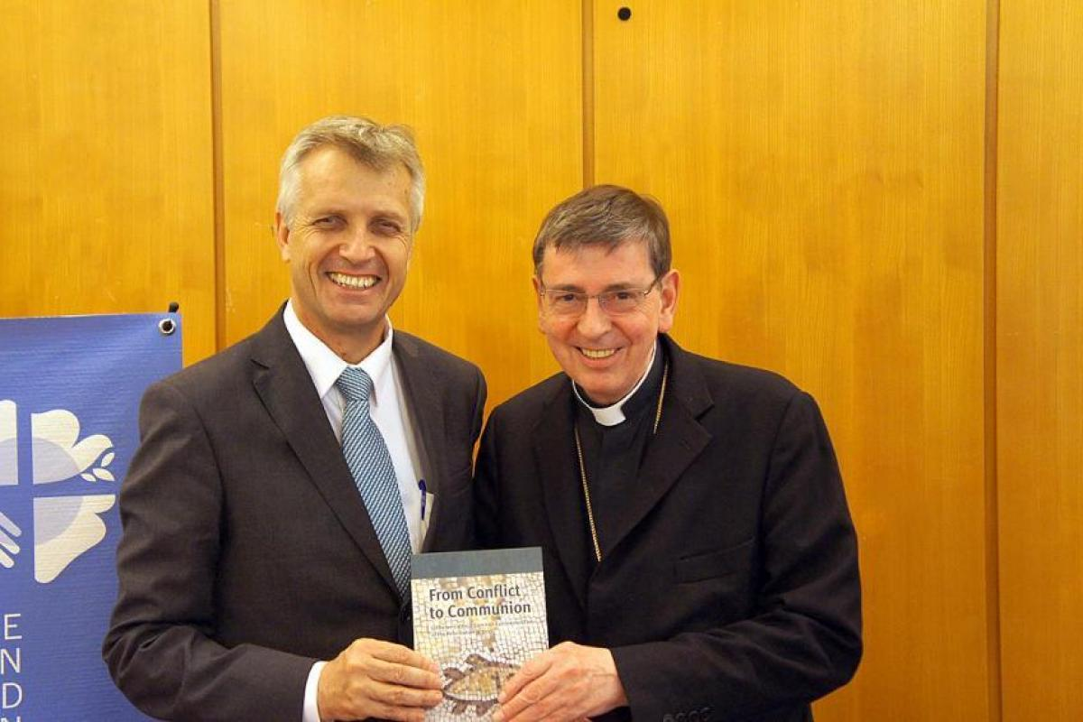Rev. Martin Junge (left) and Cardinal Koch. Photo: LWF/S. Gallay