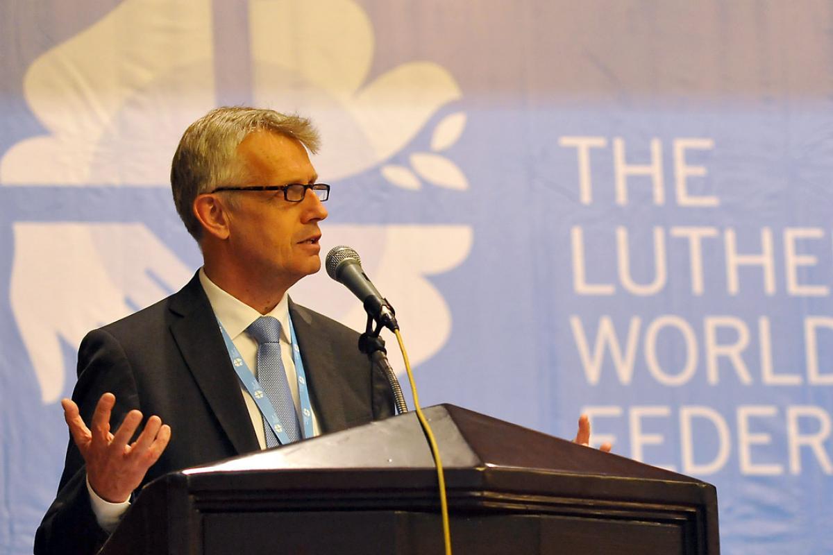 General Secretary Rev. Martin Junge at the LWF Council Meeting in Medan, Indonesia, June 2014. Photo: LWF/M. Renaux