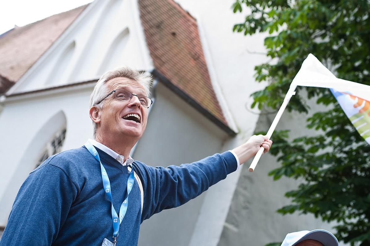 LWF General Secretary Rev. Dr Martin Junge takes part in the LWF Wittenberg Pilgrimage, June 2016. He says the Lutheran – Catholic commemoration of the Reformation anniversary offers a beautiful opportunity to express the common hope we all have in Christ. Photo: LWF/Marko Schoeneberg