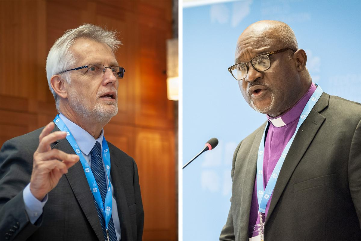 LWF General Secretary Rev Dr Martin Junge (left) and President Archbishop Dr Panti Filibus Musa. Photos: LWF/S. Gallay and LWF/Albin Hillert