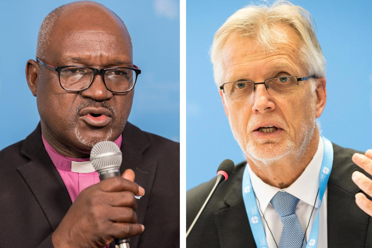 Composite photo.LWF PresidentMusa and General Secretary Jungesay solidarity and cooperation must know no boundaries, as COVID-19 spreads across borders.Photos:LWF/A. Hillert