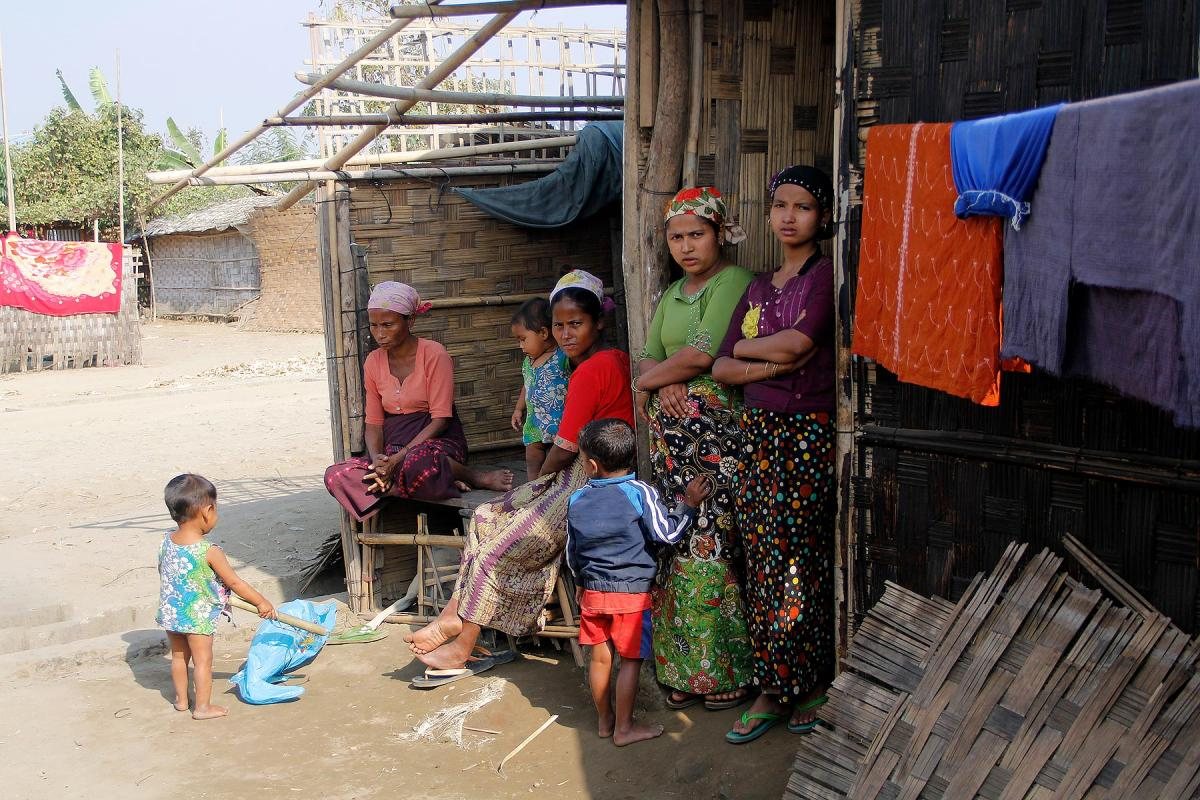 Displaced Rohingya living in Ohn Taw Gyi (South) camp, Rakhine/ Myanmar. Photos: LWF/ I. Htun