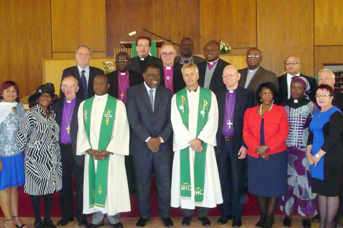 LWF delegation with Namibian Prime Minister and church leaders © LWF/Klaus Rieth