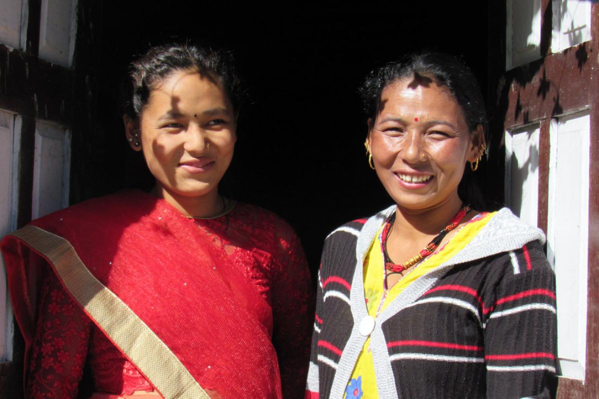 Rita Lama in her home village. Accusations of witchcraft almost made her give up on life. Photo: LWF/U. Pokharel