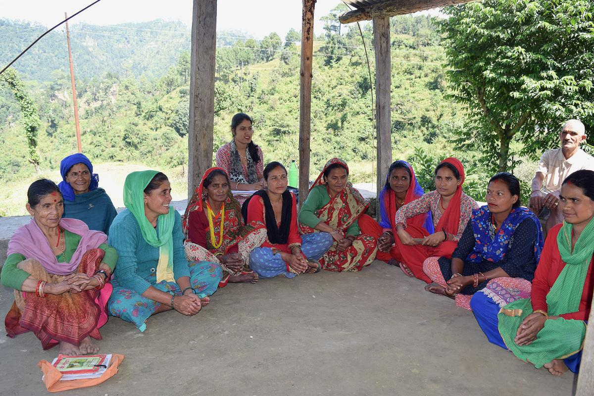 A group of participants in LWF's transformative education program for freed Haliyas in Baitadi, Nepal. Photos: LWF Nepal