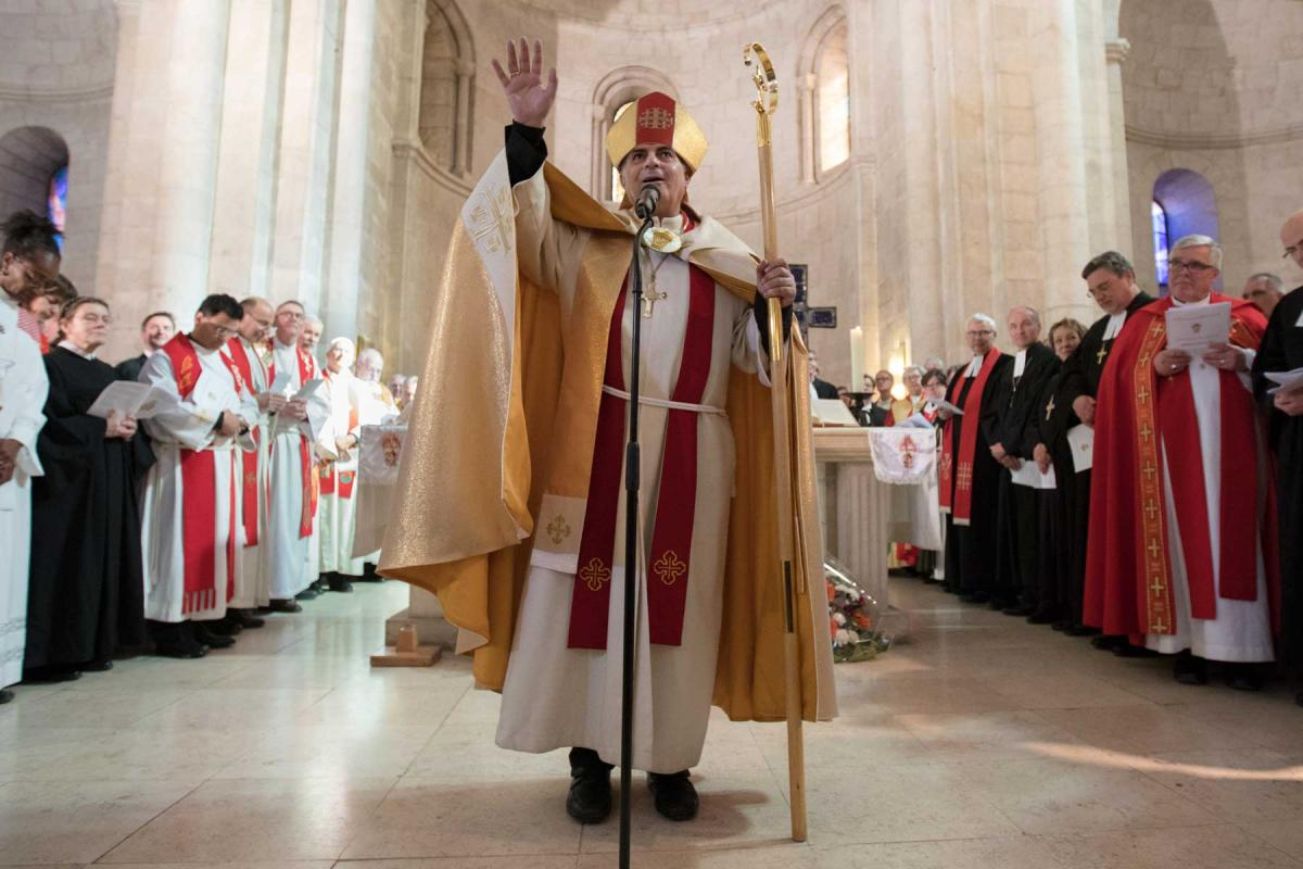Bishop Azar at his consecration in Bethlehem. Photo: ELCJHL/ Ben Gray