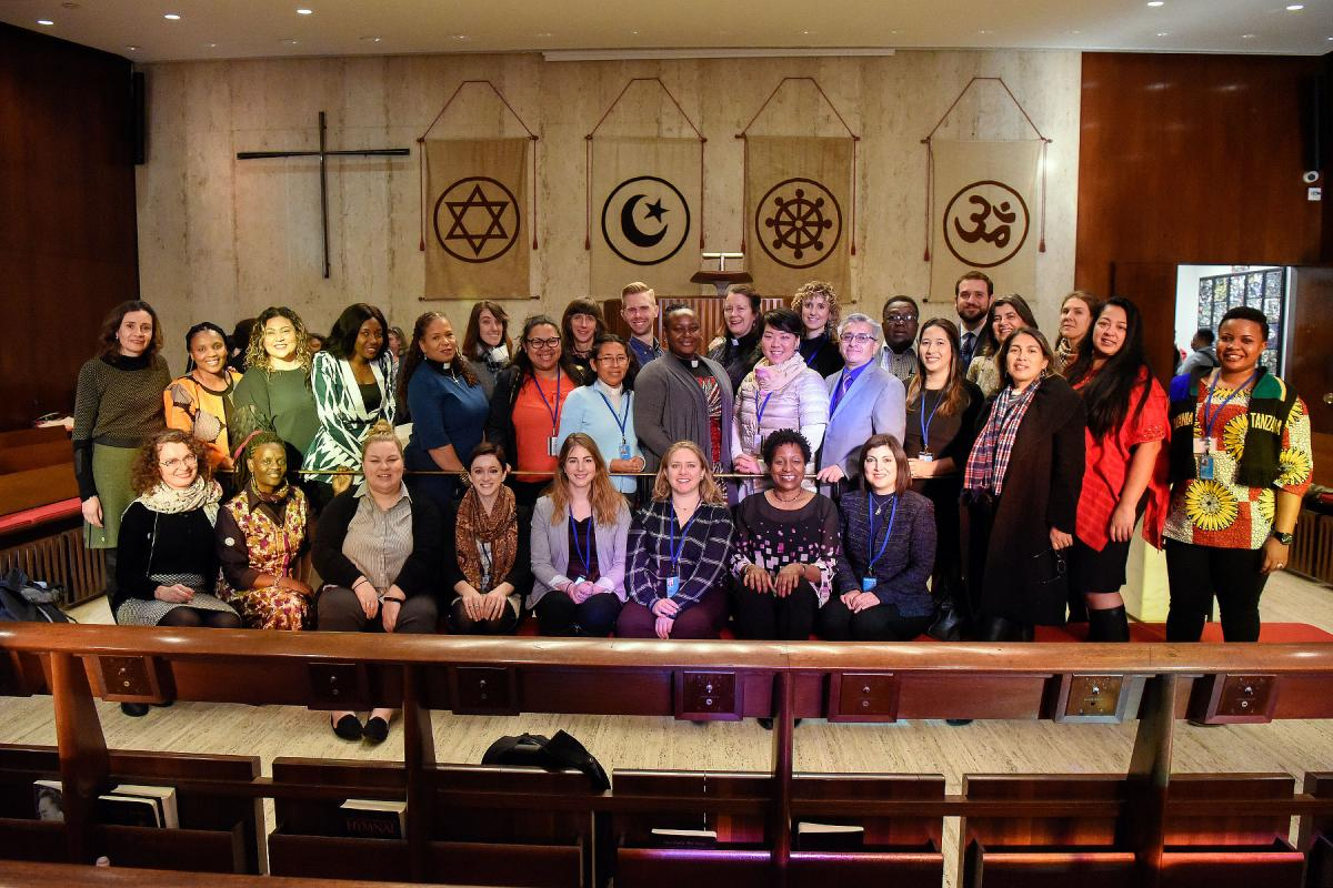 Lutheran delegation on the first day of the United Nations Commission on the Status of Women, 11 March, 2019. Photo: Rich Copley