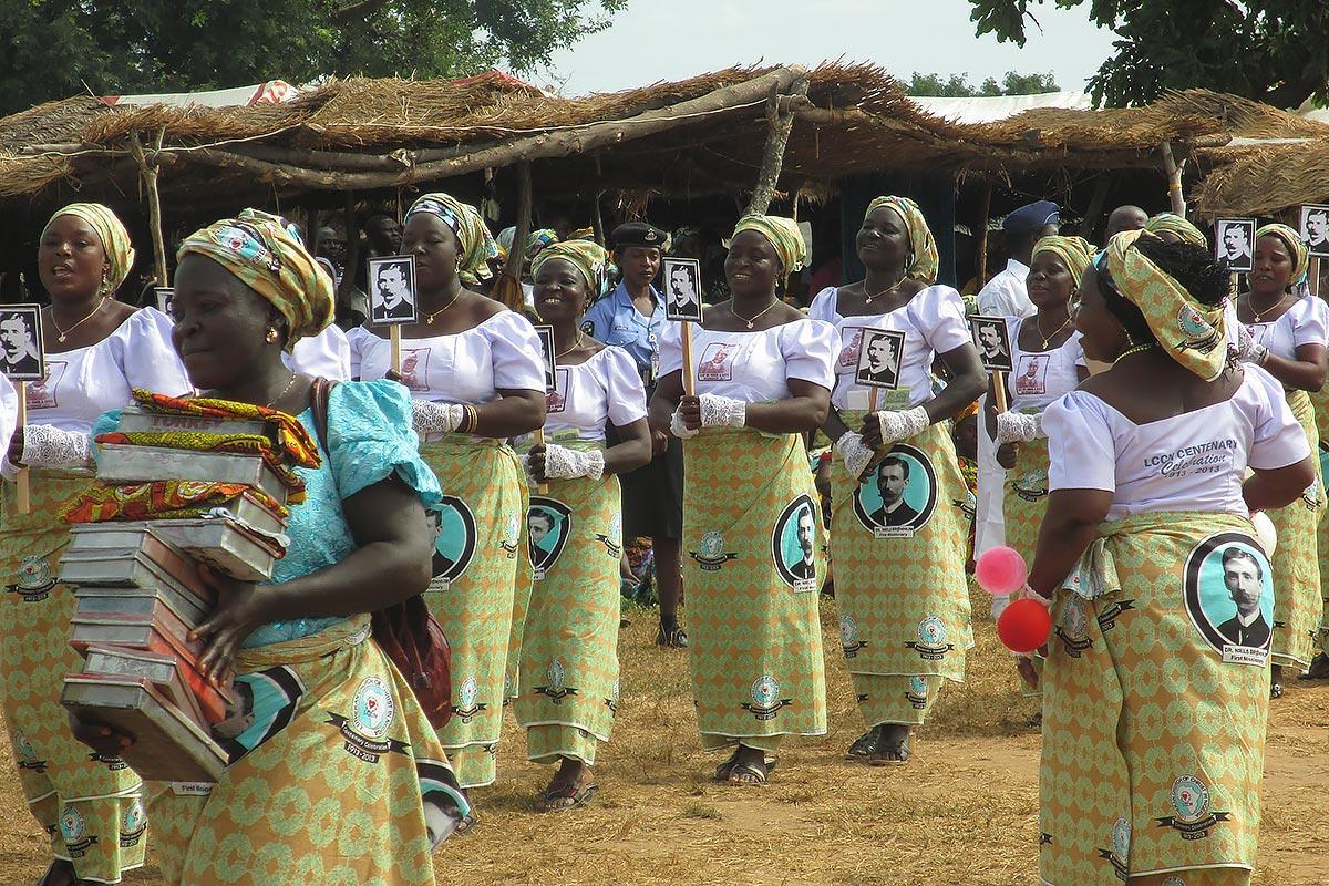 A group of LCCN women during the centennial of the church. Photo: LWF/ LCCN/ Felix Samari