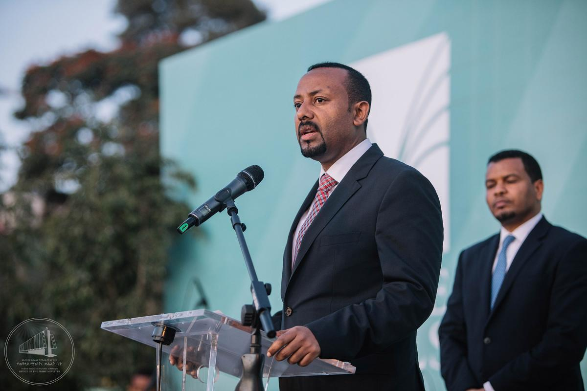 PM Abiy Ahmed at an inauguration event in Addis Ababa. Photo: Office of the Prime Minister – Ethiopia