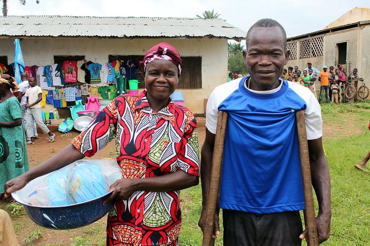 A couple at the voucher fair. Photo: LWF/C. Caraux-Pelletan