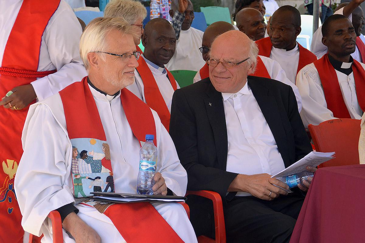 Rev. Dr Martin Junge and Bishop Gerhard Ulrich, from the Evangelical Lutheran Church in Northern Germany, also representing the 12 Lutheran churches in Germany.