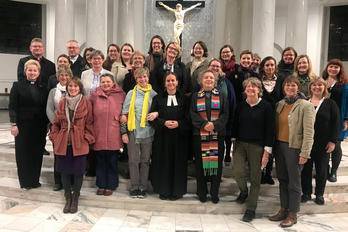 Women leaders from Eastern, Central and Western Europe participated in a Worship Service at Warsaw's Holy Trinity Lutheran church during a regional consultation on 'Faith, Gender Justice and Women's Human Rights'. Photo: LWF/Agnieszka Godfrejów-Tarnagórska
