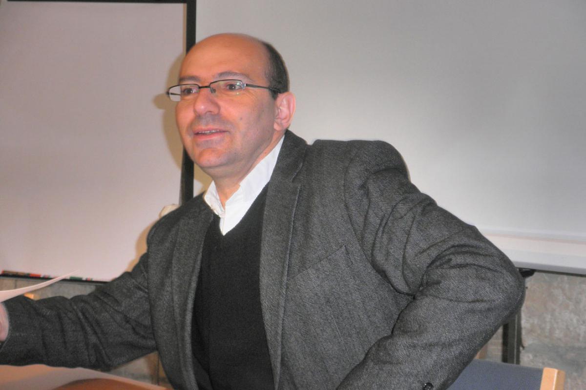 Olof Palme Memorial Fund winner Rev. Dr Mitri Raheb, 2010. Photo: Gied ten Berge, WikiPortrait