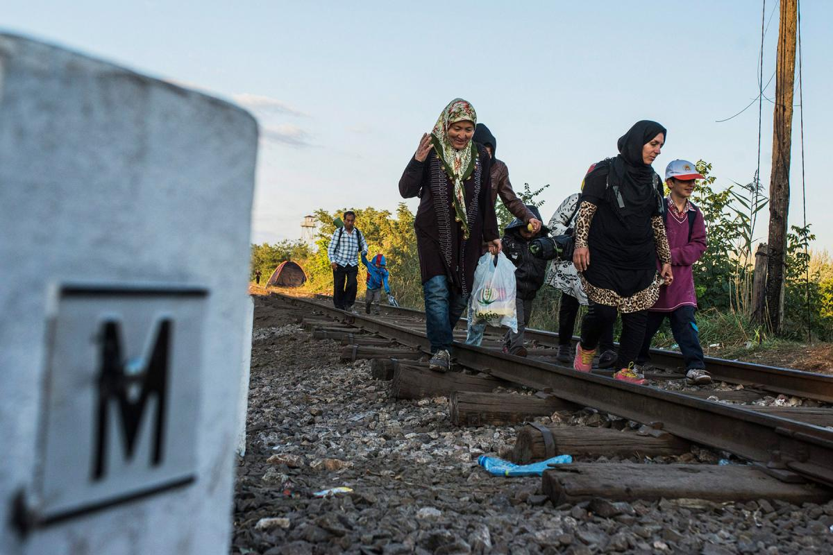 """""""Solidarity should be the guiding principle governing migration and particularly refugee reception"""". Refugees in Hungary, September 2015. Photo: Ujvári Sándor/MTI"""